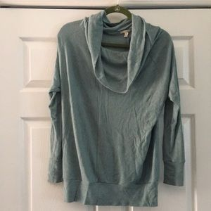 Teal cowl neck sweater